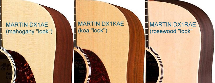 martin-dx1ae-vs-dx1kae-vs-dx1rae-acoustic-guitars